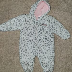 NWT Carter's Baby Girl 0-3 Mo. Bunting Suit